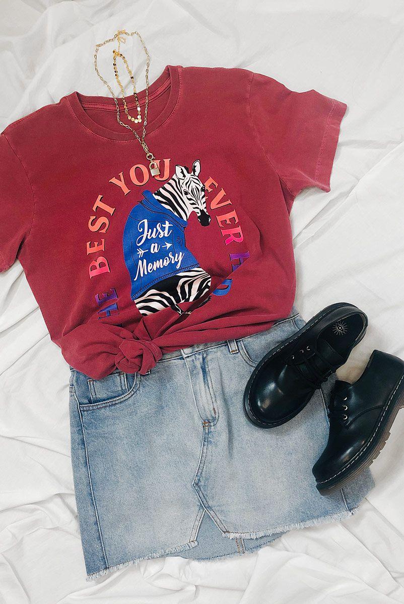 T-shirt PLUS Zebra Just A Memory