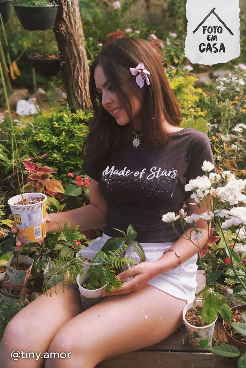 T-shirt Preta Made Of Stars