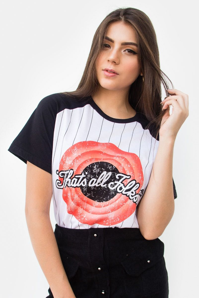 T-shirt Raglan Listrada That's All Folks