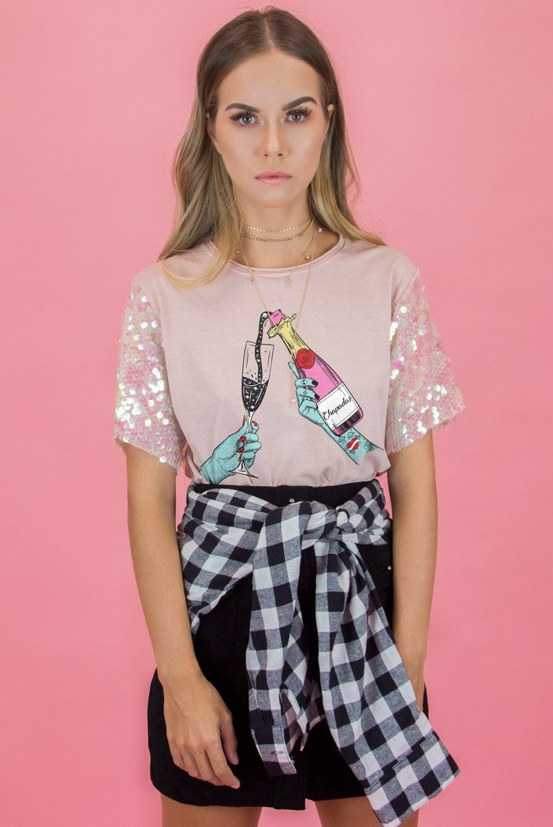 T-shirt Rose CHAMPA Chapadas