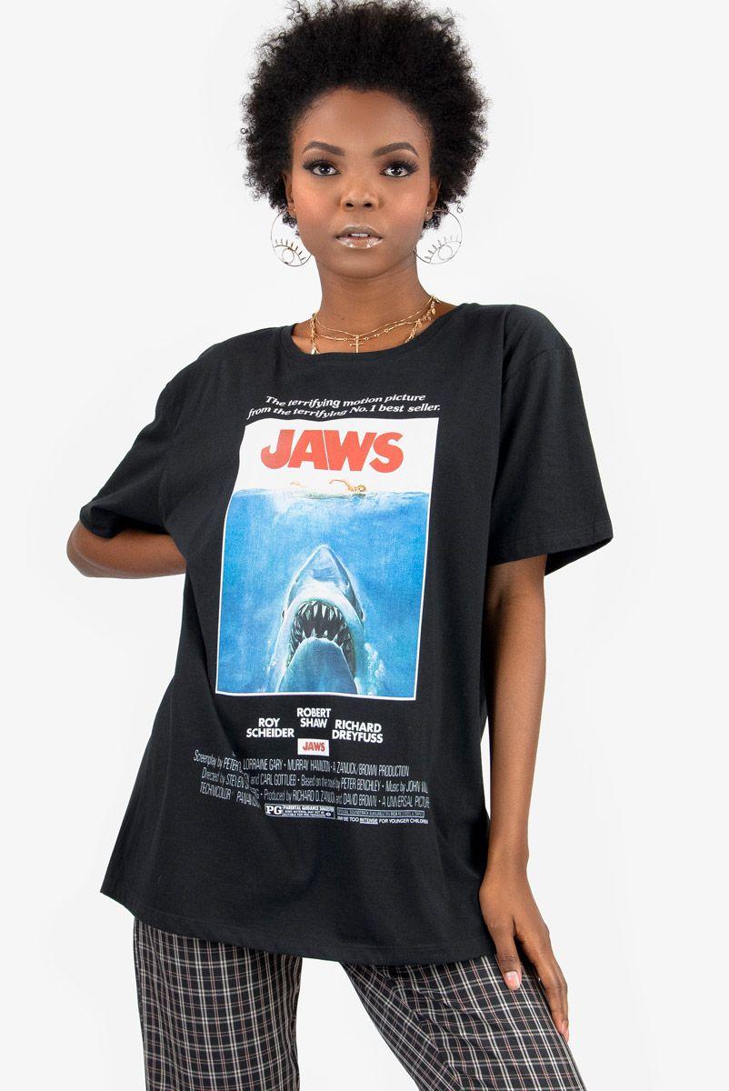 T-shirt Tubarão JAWS Preta