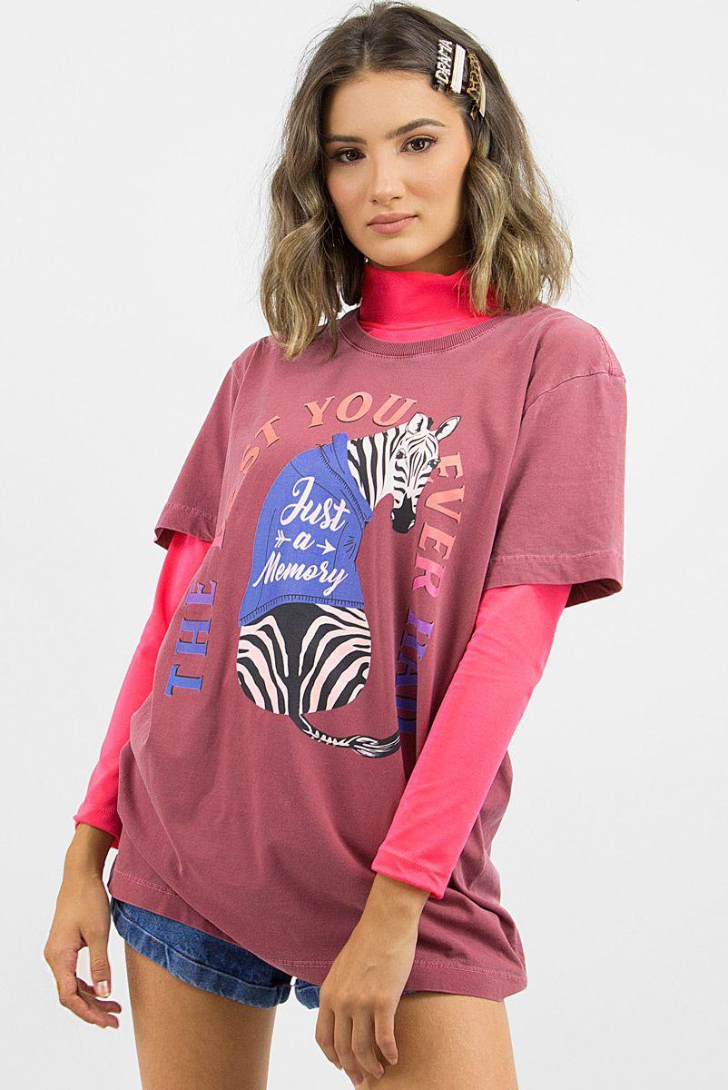 T-shirt Zebra Just A Memory
