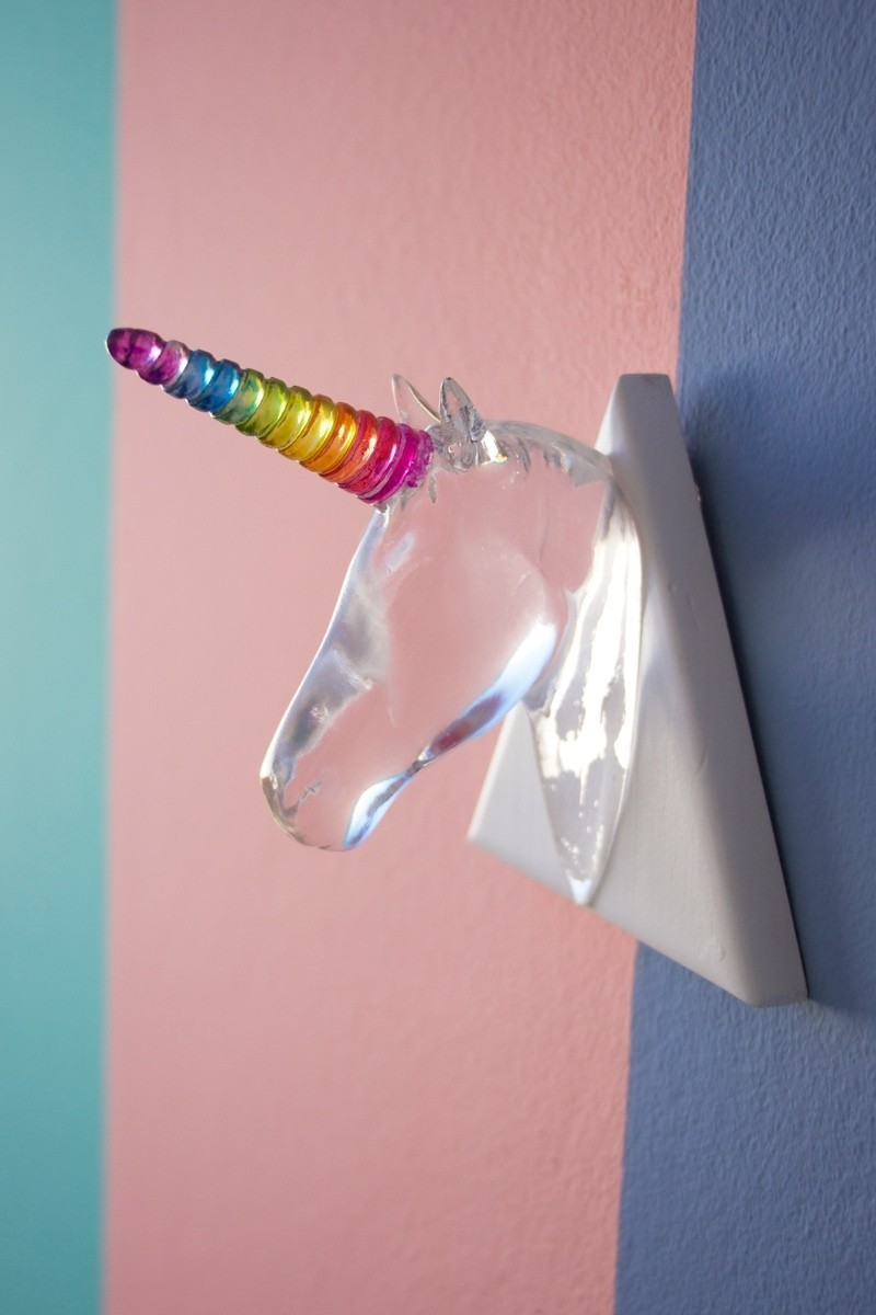 Unicórnio Médio Crystal Decorativo