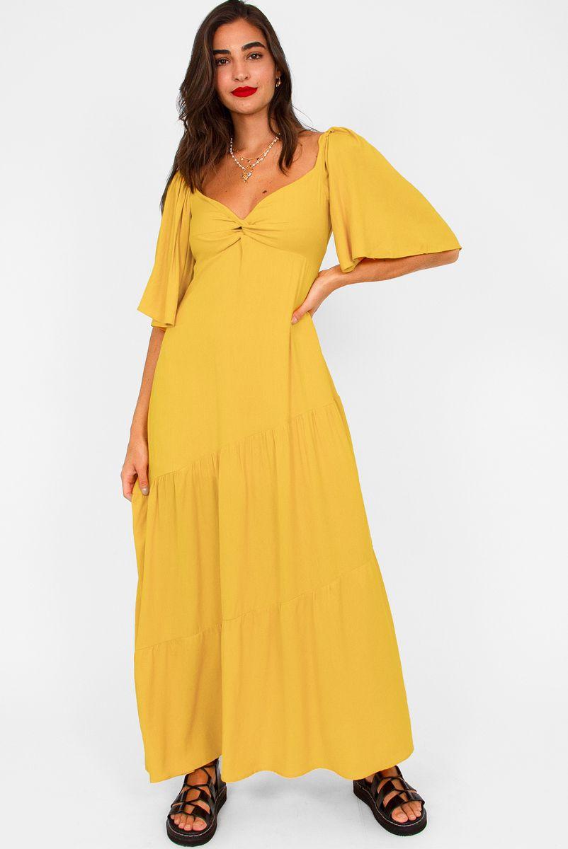 Vestido Longo Leblon - Amarelo