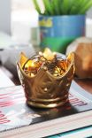 Adorno Decorativo Coroa Metalizado