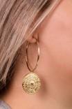 Argola Medalha Zodíaco Lauren