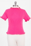 Blusa Baby Tricot Hot Pink