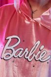 Blusa Cang Veludo Rose Barbie