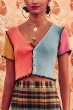 Blusa Crop Colorida