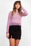 Blusa Tule Checkerboard - Lilás