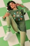 Blusa Tule Checkerboard - Pistache