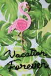 Quadrinho Bordado Decor Flamingo Vacation Forever
