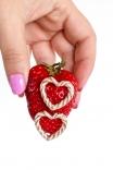 Brinco Coração Cream