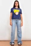 Calça Wide Leg Jeans Azul