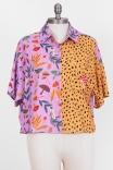 Camisa Cropped Jardim dos Cogumelos