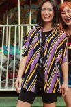 Camisa Listrada Purple