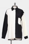 Camisa Over Bicolor P&B