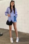 Camisa Unissex Listras Azul