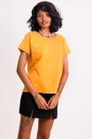 Camiseta Babylook Basic Mostarda