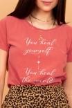 Camiseta Babylook Heal Yourself