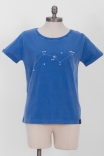 Camiseta Babylook PLUS Azul Constelação