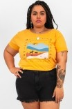 Camiseta Babylook PLUS Mostarda The Way