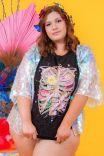 Camiseta Baby Look PLUS Tórax Floral