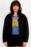 Camiseta Curta Azul Stay Sunny