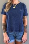 Camiseta T-shirt Box Logo Azul Jeans