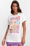 Camiseta T-shirt Crochê Astral