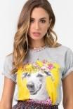 Camiseta T-shirt Mescla Vira Lata
