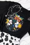 Camiseta T-shirt Meu Jardim Preta