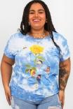 Camiseta T-shirt Nuvem Flor Dali