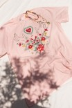 Camiseta T-shirt PLUS Bordado Floral