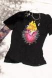 Camiseta T-shirt PLUS Corazón Flames