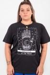 Camiseta T-shirt PLUS Preta Daughter Of The Moon