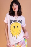 Camiseta T-shirt PLUS Smile Rosa Feeling