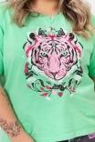 Camiseta T-shirt PLUS Verde Tiger