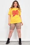 Camiseta T-shirt Rebel Bowie Amarela