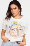 Camiseta T-shirt Rosto Flowers
