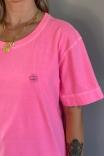 Camiseta T-shirt Unisex Logo Rosa Neon