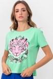 Camiseta T-shirt Verde Tiger