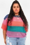 Camiseta Tricot Listrada Mila