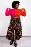 Cardigan Bicolor Orange Pink