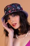Chapéu Bucket Dupla Face Lilas Florescer
