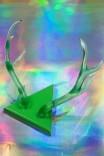 Chifre Décor Alce / Veado Colorido