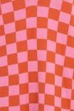 Colete Tricot Checkerboard Rosa