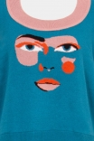 Colete Tricot Rosto Azul