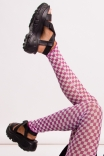 Legging Frufru Checkerboard - Lilás