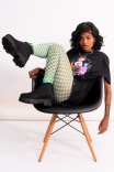 Legging Frufru Checkerboard - Pistache